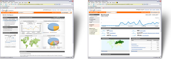 Google Analytics Alt vs. Neu